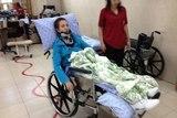 Жукова Виктория во время реабилитации в Израиле