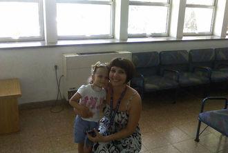 Варвара Шорникова с дочерью в клинике Вольфсон (Израиль)