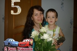 Кирилл с мамой (диагноз остеопетроз)