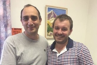 Максим Иванов с профессором Минц из Хадассы (Израиль)