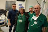 Профессор Рохкинд со своей командой - доктором Леонидом и доктором Вайс