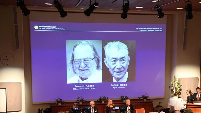 Церемония вручения нобелевской премии 2018 год, Джеймс Эллисон и Тасуку Хондзе