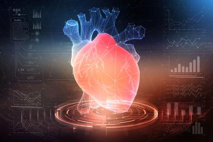 сердце напечатанное на трехмерном принтере