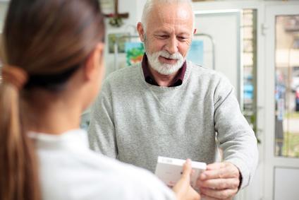 Пациент с таблетками